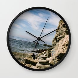Rock Stack Ocean  Wall Clock