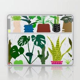 Plants on the Shelf in Gray + White Wood Laptop & iPad Skin