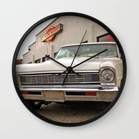 american beauty Wall Clocks featuring American beauty #2 by Vorona Photography