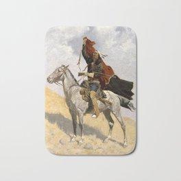"Frederic Remington Western Art ""The Blanket Signal"" Bath Mat"