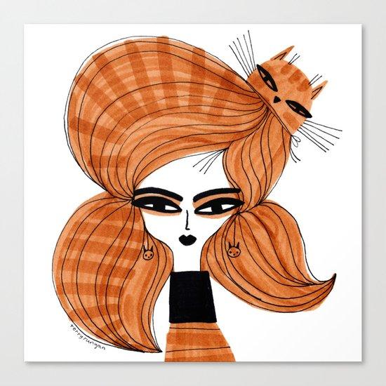 ORANGE TABBY HAIR Canvas Print