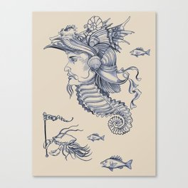 Sea Posse I - Warrior, Navy Print Canvas Print