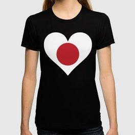 Japanese Flag Heart T-shirt