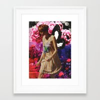 pixies Framed Art Prints featuring #Pixies by Lexi Colt