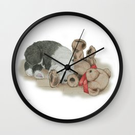 Teddy's Best Friend Wall Clock