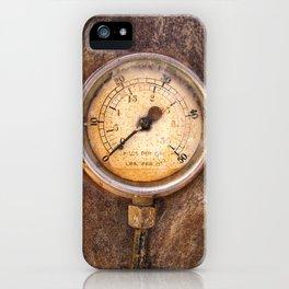 pressure - vintage industrial meter iPhone Case