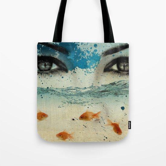 tear in the ocean Tote Bag
