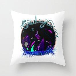 TiredEyeShark Official Logo Throw Pillow