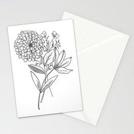 Zinnia Stationery Cards