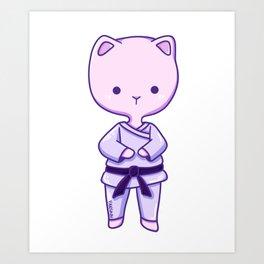 Karate cat animal love kittens Mietz gift Art Print