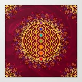 FLOWER OF LIFE, CHAKRAS, SPIRITUALITY, YOGA, ZEN, Canvas Print