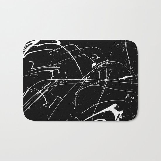 MONOCHROME SPLATTER #2 Bath Mat