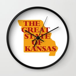 THE GREAT STATE OF KANSAS Wall Clock