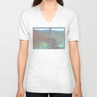 bath V-neck T-shirts featuring Bath by ONEDAY+GRAPHIC