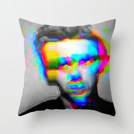JD Glitch Throw Pillow