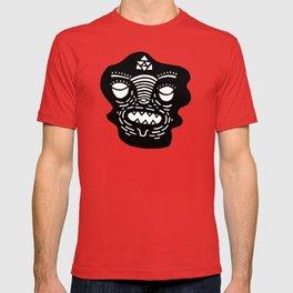 stencil face T-shirt