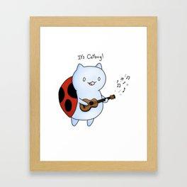 Catbug! by Maria Piedra Framed Art Print