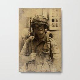 Airborne Ranger - Haworth 1940s weekend Metal Print