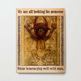 Horned Demon Metal Print