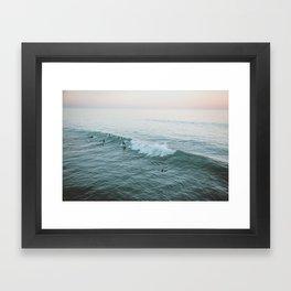 lets surf v Framed Art Print
