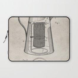Coffee Percolator Patent - Coffee Shop Art - Antique Laptop Sleeve