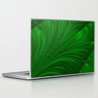 renaissance Laptop & iPad Skins featuring Renaissance Green by Charma Rose