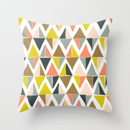 Colorful Geometric Triangle Pattern Throw Pillow