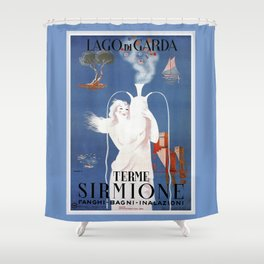 Sirmione Lake Garda travel Shower Curtain