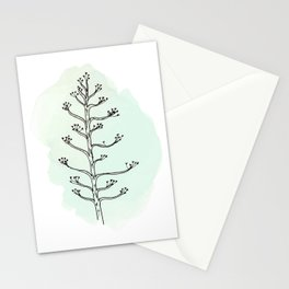 Agave flower Stationery Cards
