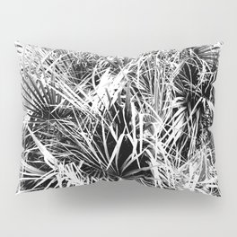 Palm Fronds In Black and White Abstract Photography Pillow Sham