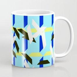 trapezoids grid pattern_skyblue Coffee Mug