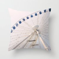 ferris wheel Throw Pillows featuring Ferris Wheel by Pati Designs & Photography