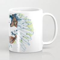 indie Mugs featuring Indie by chiara costagliola