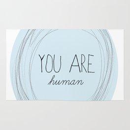 you are human Rug