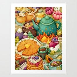 Tasty Land - Breakfast Art Print