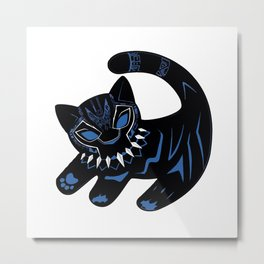 The Glowing Panther King Metal Print