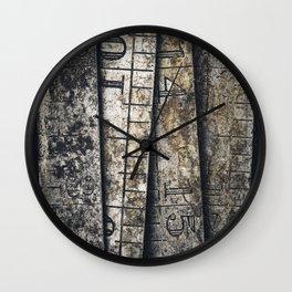 Rusty Steel Rule Wall Clock