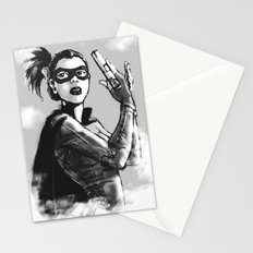 asian hitgirl Stationery Cards