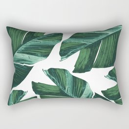 Tropical Banana Leaves Vibes #4 #foliage #decor #art #society6 Rectangular Pillow