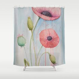 Sheila's Poppies Shower Curtain
