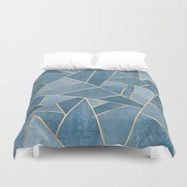 Dusk Blue Stone Duvet Cover