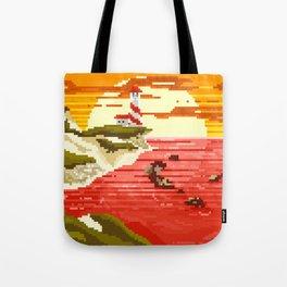 Pixel Beach Tote Bag