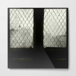 Foggy Window Metal Print