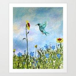 Sun Flower Day Art Print