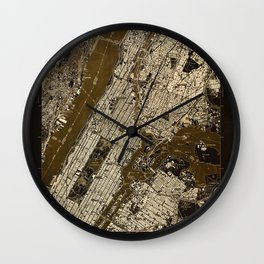 Central Park 1947, old vintage map, map poster new york Wall Clock