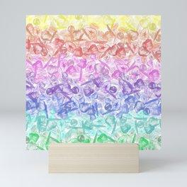 Crystal Gemstone Background Pattern - Geodes + Quartz Points Mini Art Print