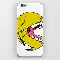 pac man iPhone & iPod Skins featuring Ancient Pac-man by Sauce Designs