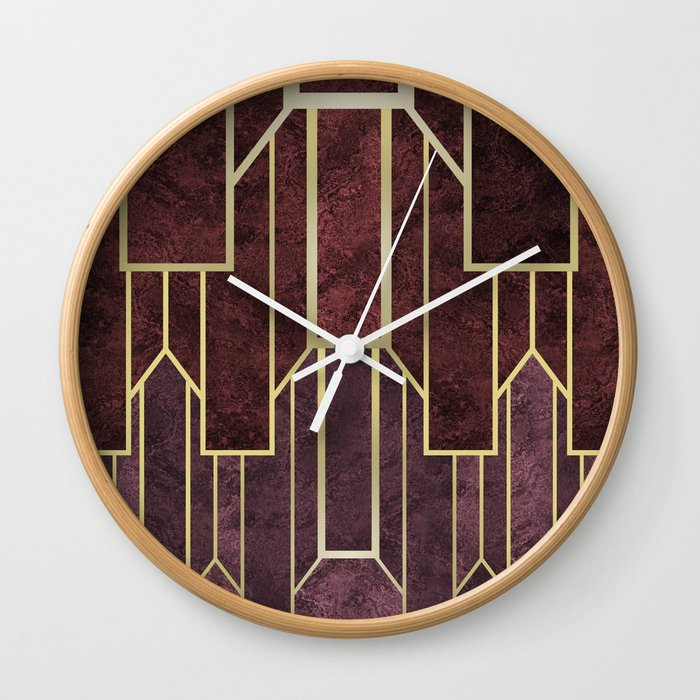 timeless wall clock by absentisdesigns society6
