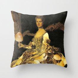 Mushroom Lady Throw Pillow