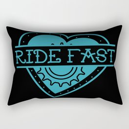 Love Ride Fast Rectangular Pillow